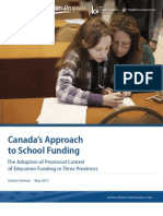 Canada's Approach to School Funding