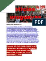 Noticias Uruguayas Lunes 13 de Mayo Del 2013
