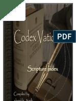 Codex Vaticanus 03 Scripture Index
