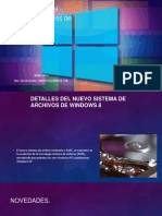 Características del  sistema de archivos de Windows 8