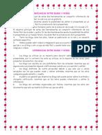 Diferencias y Semejanzas Entre Blog y Wiki