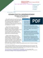 Economic Policy in a Weakenig Economy