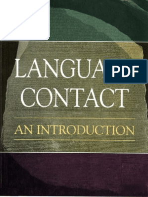 Language Contact an Introduction | Multilingualism | Grammatical Gender