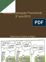 Colocação pronominal portugues  2013