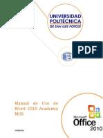 Manual de Uso de Word 2010 Parte 1