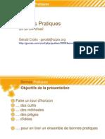 Bonnes pratiques en un clin d'oeil - PHP Quebec 2009