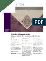 Puff Flower Spa Cloth v.2