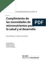 Cumpliiento de Las Necesidades de Micronutrientes Para La Salud y El Desarrollo