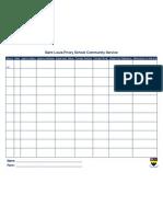 Community Service Sheet