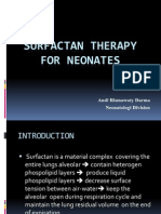 Surfactan Therapy for Neonates