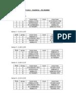 International Cup 2013 Fixtures