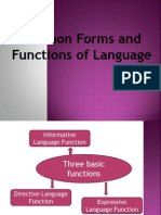 Forms and Functions of Language