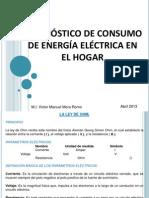 001.- Diagnóstico de consumo de energía eléctrica en el hogar
