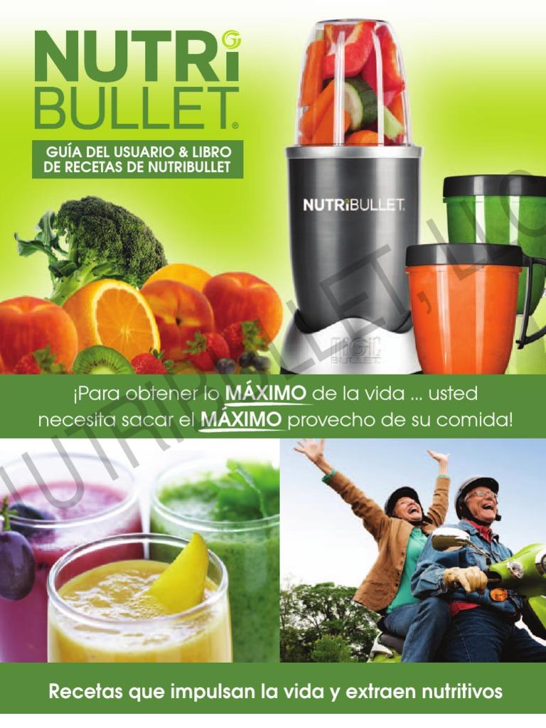 jugos para bajar de peso con nutribullet