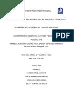PRACTICA N°8 MANEJO, FUNCIONAMIENTO Y UTILIZACION FDE TRANSFORMADORES MONOFASICOS TIPO NUCLEO