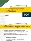 Week 7 Concrete Quality Control & Admixtures