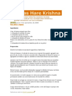 Recetas Hare Krishna