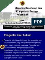 materi kuliah Regulasi Pelayanan Kesehatan Dan Standar Kompetensi Tenaga Kesehatan