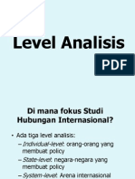 Level of Analysis