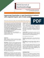 Laparoscopic Fenestration vs Open Fenestration in Patients With Congenital Hepatic Cysts Meta Analysis 2011