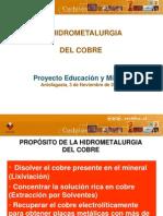 Hidrometalurgia Del Cobre - COCHILCO