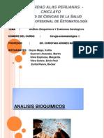 Analisis  Bioquimicos  y Examenes  Serologicos