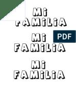Mi Familia Letras