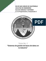 Sitemas de Bases de Datos en La Industria