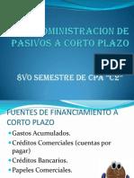 Administracion de Pasivos a Corto Plazo Diapositiva de Administracion .