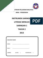 Instrumen Literasi Menulis Saringan 1_tahun 2 2013