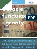 Dotacje Fundusze i Granty  poradnik darmowy ebook pdf pobierz darmowe ebooki