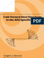 Cold-Formed Steel Structures to the AISI Specification