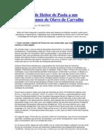 Entrevista de Heitor de Paola a Um Grupo de Alunos de Olavo de Carvalho