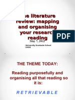 The Lit Review - Mapping & Organising Research