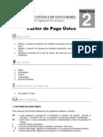Practica 2 (Factor de Pago Unico)