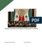 Ensayo Regimen Parlamentario en Mexico