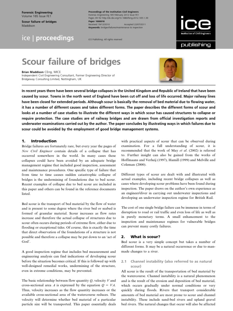 Scour Failure of Bridges | River | Erosion