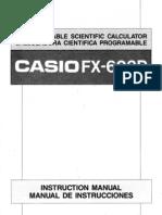 Casio FX-603P Manual