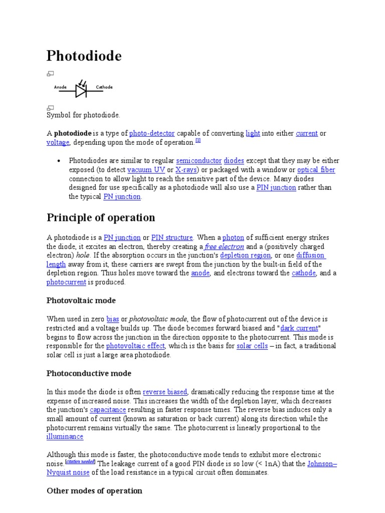 Photo Diode | Semiconductors | Materials