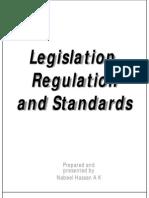 Legislation, Regulation and Standards