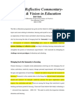 Values Vision In Education Managing Learning for Achievement