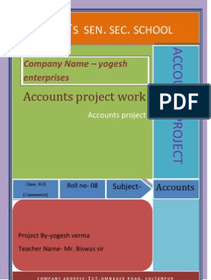Accounts Project File | Bookkeeping | Debits And Credits