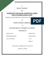 Project Report on Airtel.[SEMINAR (BBA 3rd SEM)]