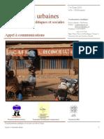 Résonances urbaines (Appel à communications)(1)