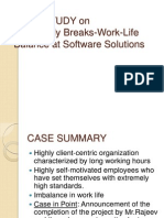 CASE STUDY on Life-Study Breaks-Work-Life Balance at Software Solutions