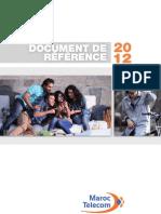 Maroc Telecom Document de référence 2012