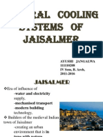 Natural Cooling Systems of Jaisalmer