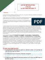Presentation Loi de Refondation Pour Le Site