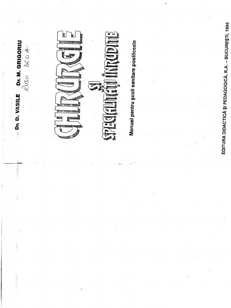 Chirurgie Si Specialitati Inrudite Dr. d. Vasile Dr. m
