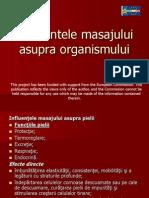Influientele Masajului Asupra Organismului